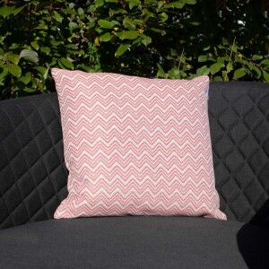 Maze Lounge Outdoor Fabric Scatter Cushion in Polines Red