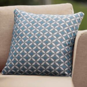 Maze Lounge Outdoor Fabric Scatter Cushion in Mosaic Blue