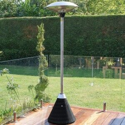 Maze Rattan Garden Furniture Black Large Electric Patio Heater
