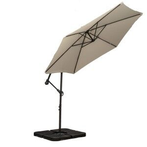 Royalcraft Garden Ivory 3m Standard Cantilever Over Hanging Powder Coated Parasol