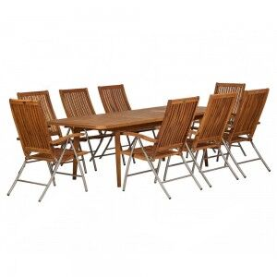 Royalcraft Garden Langkawi Wooden 8 Seater Rectangular Extending Dining Set