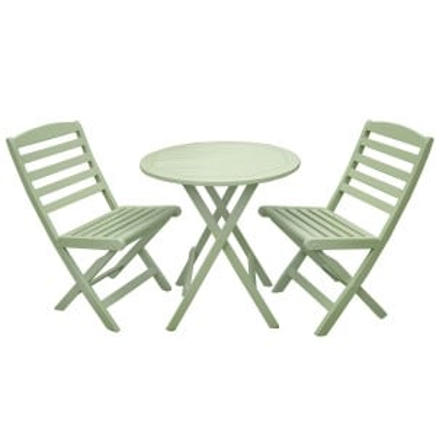 Royalcraft Garden Furniture Wooden Porto Green Folding Bistro Set