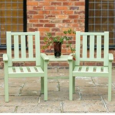Royalcraft Garden Furniture Wooden Porto Green Companion Set