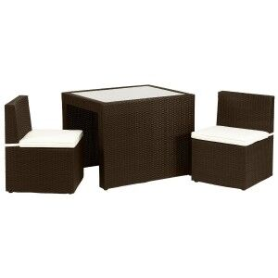 Royalcraft Garden Furniture Cannes Mocha Brown Breakfast Cube Set