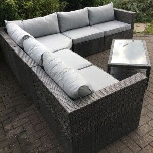 Royalcraft Garden Marlow Large Corner Lounging Set with Coffee Table