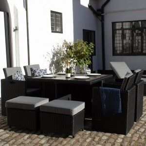 Royalcraft Garden Furniture Onyx 8 Seater Cube Set