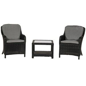 Royalcraft Garden Furniture Onyx 2 Seater 3pc Imperial Companion Set
