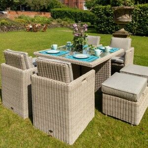 Royalcraft Garden Furniture Seychelles 8 Seater Cube Dining Set