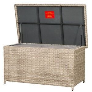 Royalcraft Garden Furniture Seychelles Storage Box including Gas Lift Top and Inner Cover