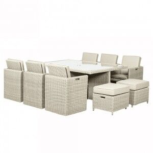 Royalcraft Garden Furniture Seychelles 10 Seater Cube Dining Set