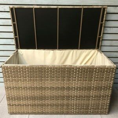 Signature Garden Furniture Weave Triple Weave Caramel Medium Cushion Storage Box