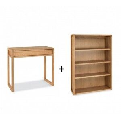 Bentley Designs Studio Oak Furniture Home Office Set