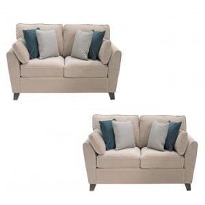 Vida Living Cantrell Almond 2 Seater Sofa Set x 2