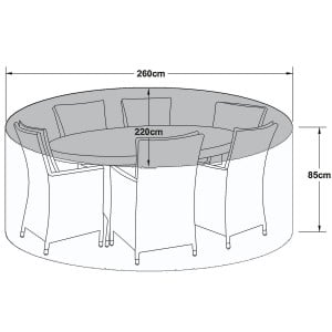 Maze Rattan Outdoor Furniture Cover for 6 Seat Oval Dining Set