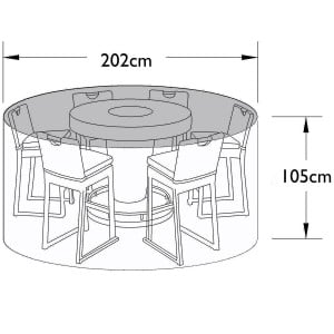 Maze Rattan Outdoor Furniture Cover for 6 Seat Round Bar Set