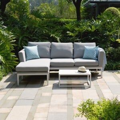 Maze Lounge Outdoor Fabric Pulse Lead Chine Chaise Sofa Set