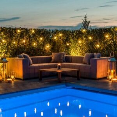 Maze Lounge Outdoor Fabric Nexus Lead Chine Corner Sofa