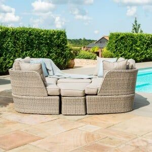 Maze Rattan Garden Furniture Cotswolds Daybed