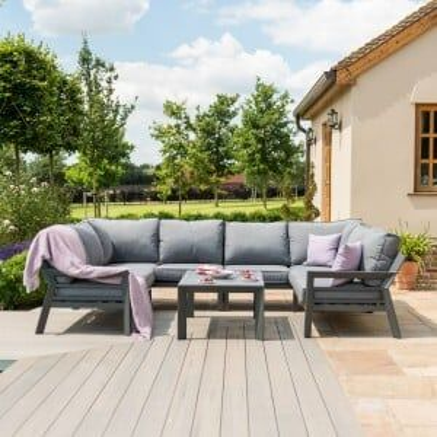 Maze Lounge Outdoor Fabric New York U-shaped Sofa Set
