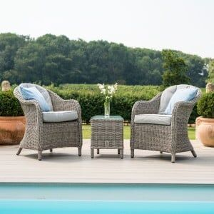 Maze Rattan Garden Furniture Oxford 3 Piece Lounge Set