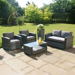 Maze Rattan Garden Furniture Victoria 2 Seat Sofa Set