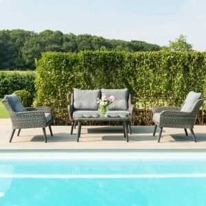 Maze Rattan Garden Furniture Florence 2 Seat Sofa Set