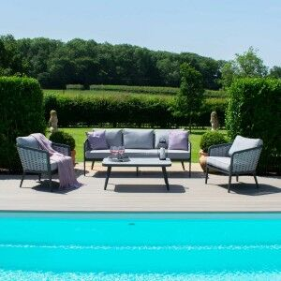Maze Rattan Garden Furniture Portofino 3 Seat Sofa Set