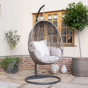 Maze Rattan Garden Furniture Harrogate Hanging Chair with Weatherproof Cushions