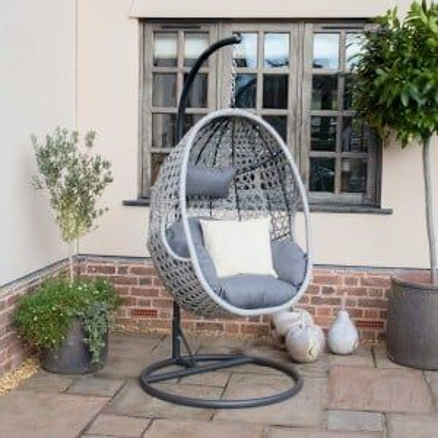 Maze Rattan Garden Furniture Ascot Hanging Chair With Weatherproof Cushions