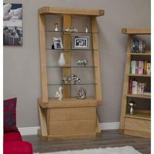 Z Solid Oak Furniture Display Cabinet