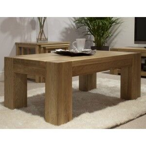 Trend Solid Oak Furniture 4ft x 2ft Coffee Table