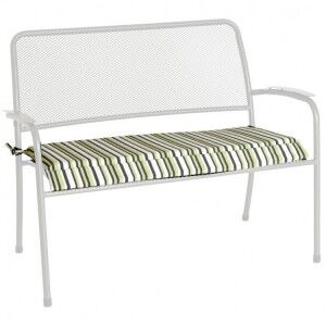 Alexander Rose Portofino Garden Green Stripe Cushion For Bench