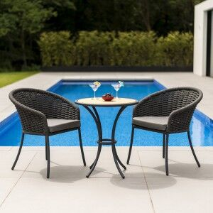 Alexander Rose Cordial Garden Grey 2 Seater Roble Bistro Dining Set