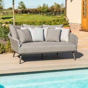 Maze Lounge Outdoor Fabric Ark Daybed in Flanelle