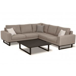 Maze Lounge Outdoor Fabric Ethos Corner Group in Taupe