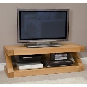Z Solid Oak Furniture Plasma TV Unit