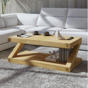 Z Solid Oak Furniture 4ft x 2ft Coffee Table