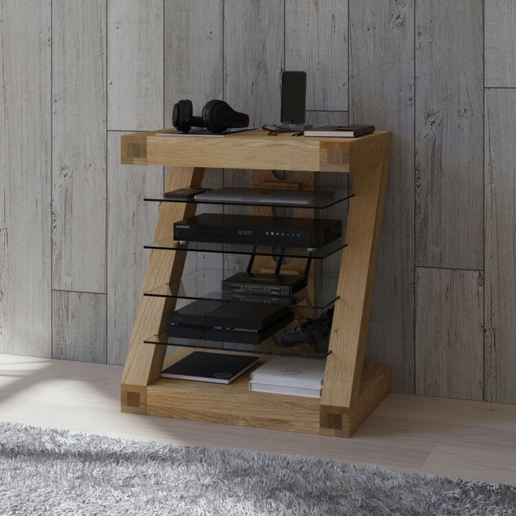 Z Solid Oak Furniture Hi Fi Unit
