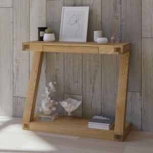 Z Solid Oak Furniture Console Table