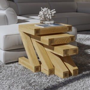 Z Solid Oak Furniture Nest of Tables