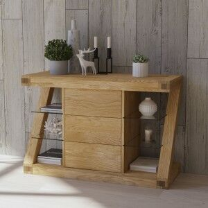 Z Solid Oak Furniture Small Sideboard