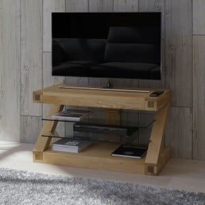 Z Solid Oak Furniture TV Unit