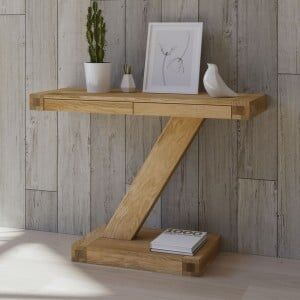 Z Solid Oak Furniture Modern Console Unit