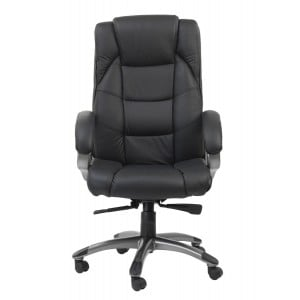 Northland Black High Back Soft Feel Leather Executive Office Chair
