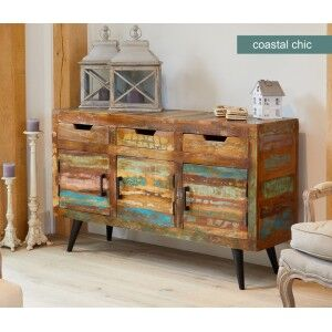 Coastal Chic Reclaimed Wood Furniture Large Sideboard