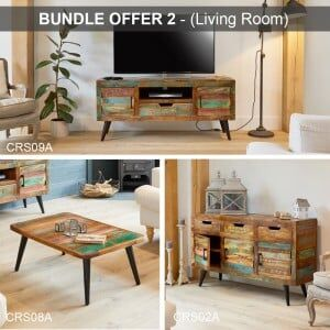 Coastal Chic Reclaimed Wood Furniture Living Room Package