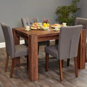 Mayan Walnut Furniture 4 Seater Dining Table