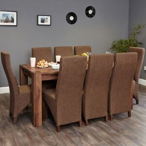 Mayan Walnut Furniture 8 Seater Dining Table