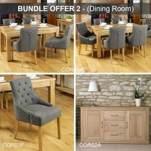 Mobel Oak Furniture Dining Room Package