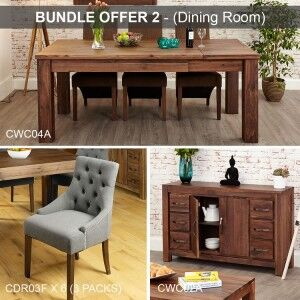 Mayan Walnut Furniture Dining Room Package